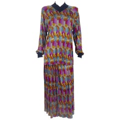 Missoni 100% Silk Matching Skirt and Top Ensemble, 1970s