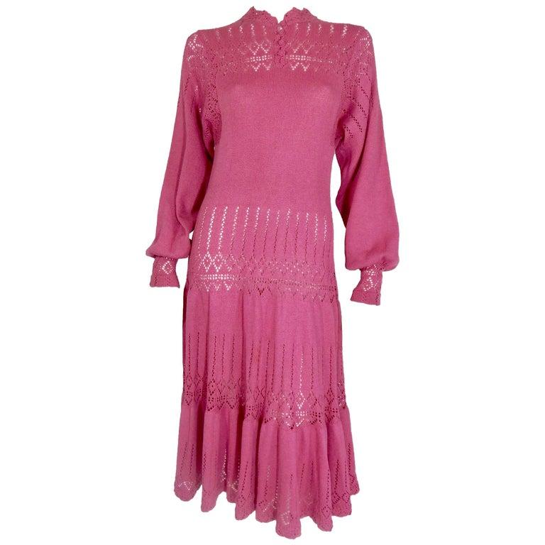 Knit Crochet Dress, 1970s
