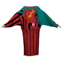 1980s Kansai Yamamoto 'Kabuki' knitted dress overcoat