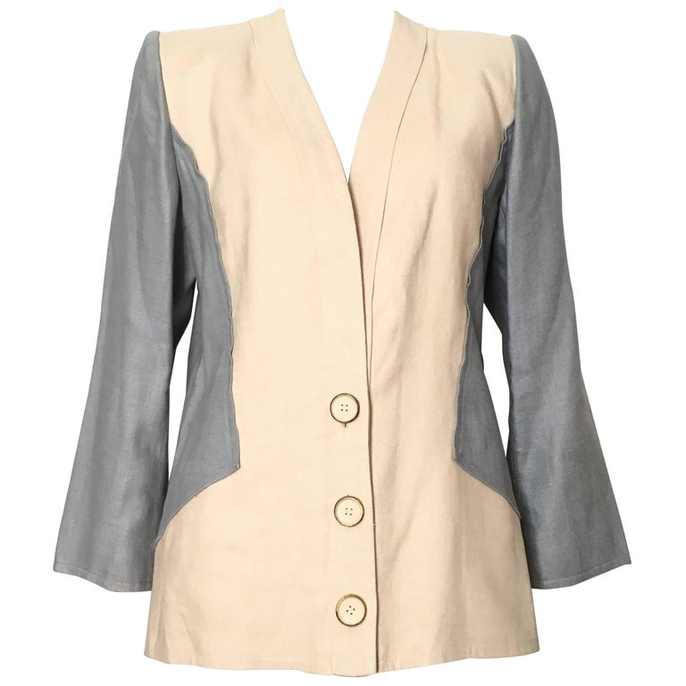 Jacqueline de Ribes Linen Jacket Size 8 / 10.
