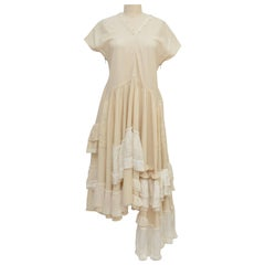 TAO Comme Des Garcons Ruffle Oversized Off White Dress   2006      S
