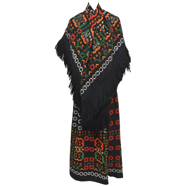 Lanvin  Skirt With Large Fringed Matching Scarf