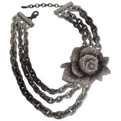 KMO Paris Triple Row Link Flower Necklace