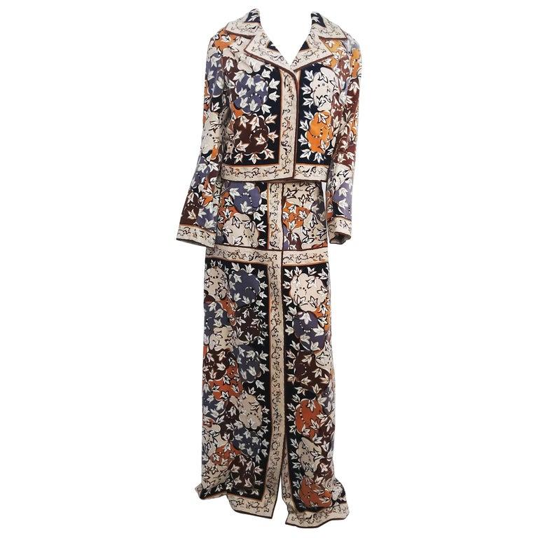 1960s Velvet Pucci Jacket & Maxi Skirt Set