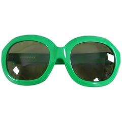 Vintage 1970's Givenchy Green Oversized Sunglasses