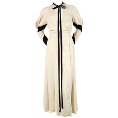 very rare 1970 OSSIE CLARK for QUORUM moss crepe wrap dress