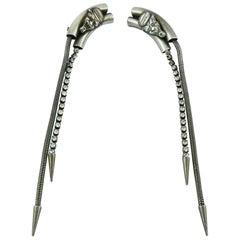 Jean Paul Gaultier Vintage Extra Long Demon Clip-On Earrings