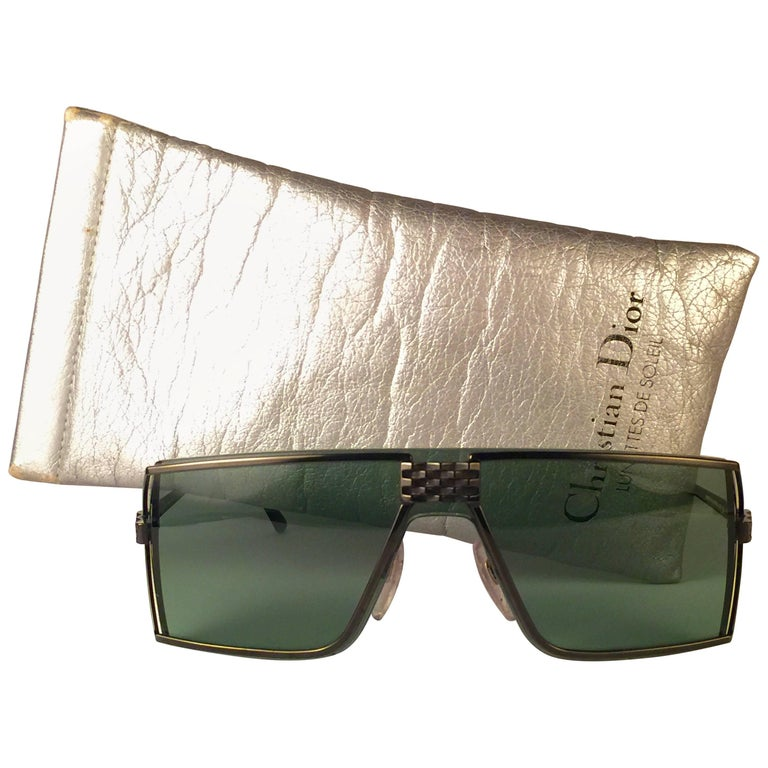 New Vintage Christian Dior Monsieur 2392 Black Wrap Around 1980 Sunglasses