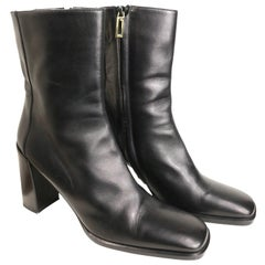 Vintage Gucci by Tom Ford Black Leather Ankle Boots