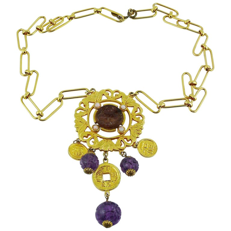 Cadoro Vintage Chinese Inspired Necklace For Sale