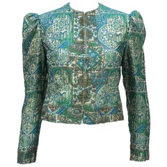 Regal 1960's Victoria Royal Fitted Brocade Jacket with Beading