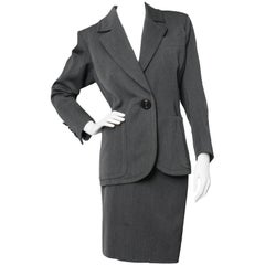 A 1960s Yves Saint Laurent Haute Couture Wool Skirt Suit