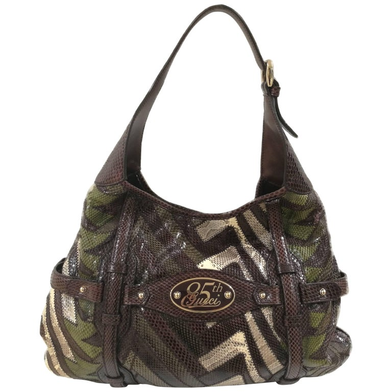 Gucci 85th Anniversary multicolour python shoulder bag For Sale