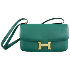 Hermes Constance Elan Bag Malachite Green Epsom Leather
