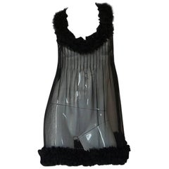 Chanel Runway Semi-Sheer Silk Baby Doll Dress, F/W 2006