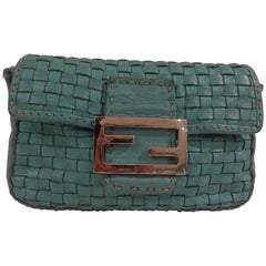 Fendi turquoise small bag