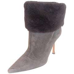 Jimmy Choo ankle suede shearling boots sz 39