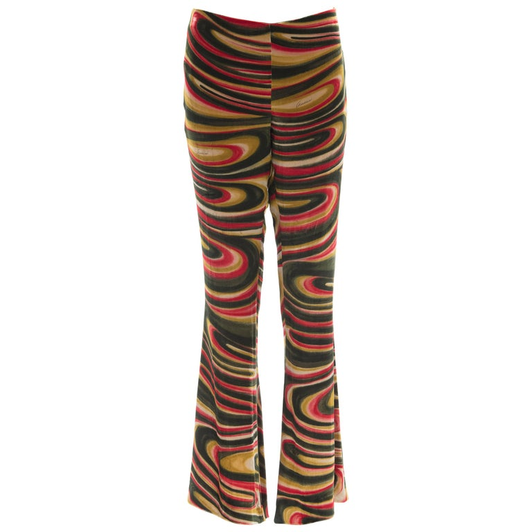 Tom Ford For Gucci Silk Velvet Psychedelic Pants, Fall 1999