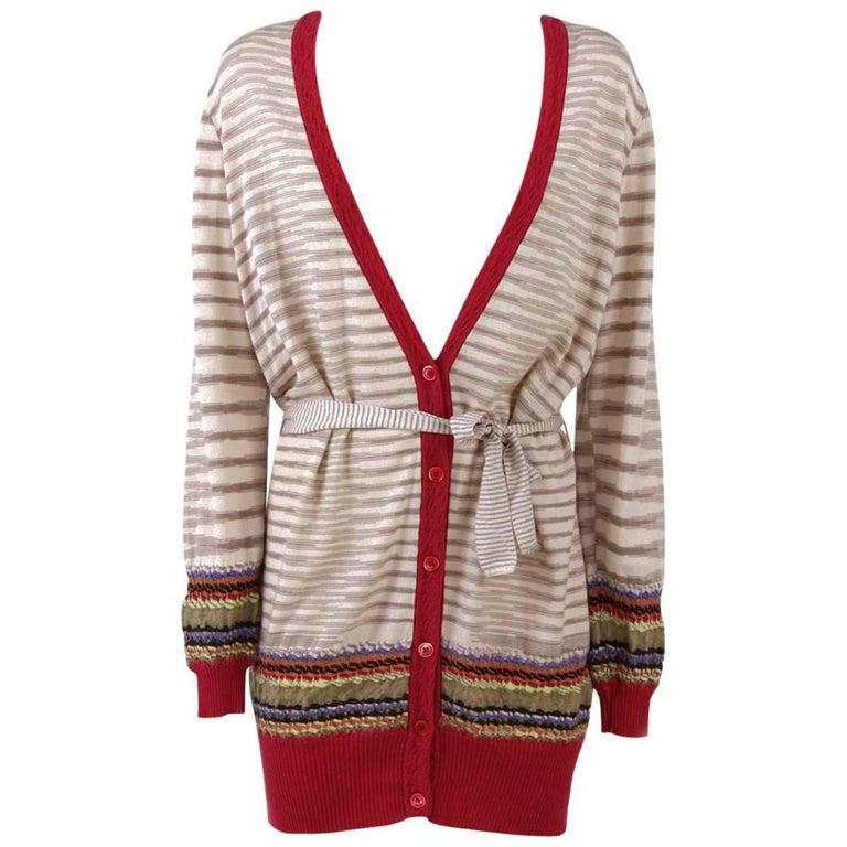 1980s Missoni Belted Wool Cardigan