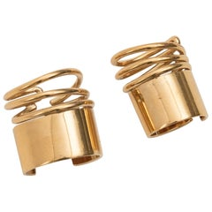 Balenciaga by Nicolas Ghesquière Two Brass Coil Rings, Spring 2013