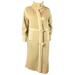Courréges tan wool coat