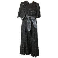 Jean Muir chiffon devoré long dress