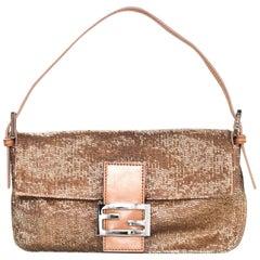 Fendi Rose Beaded Baguette Bag with DB rt $2,750