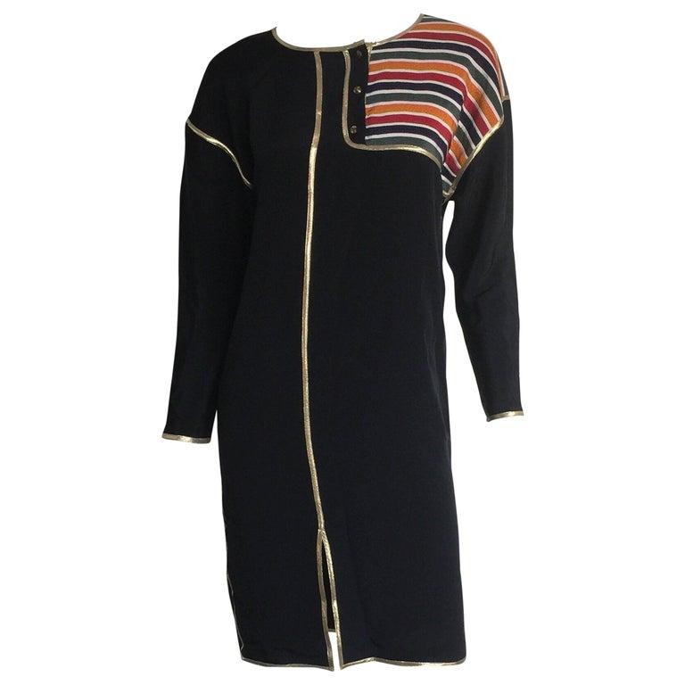 Geoffrey Beene Rainbow asymmetrical Stripe Dress 1
