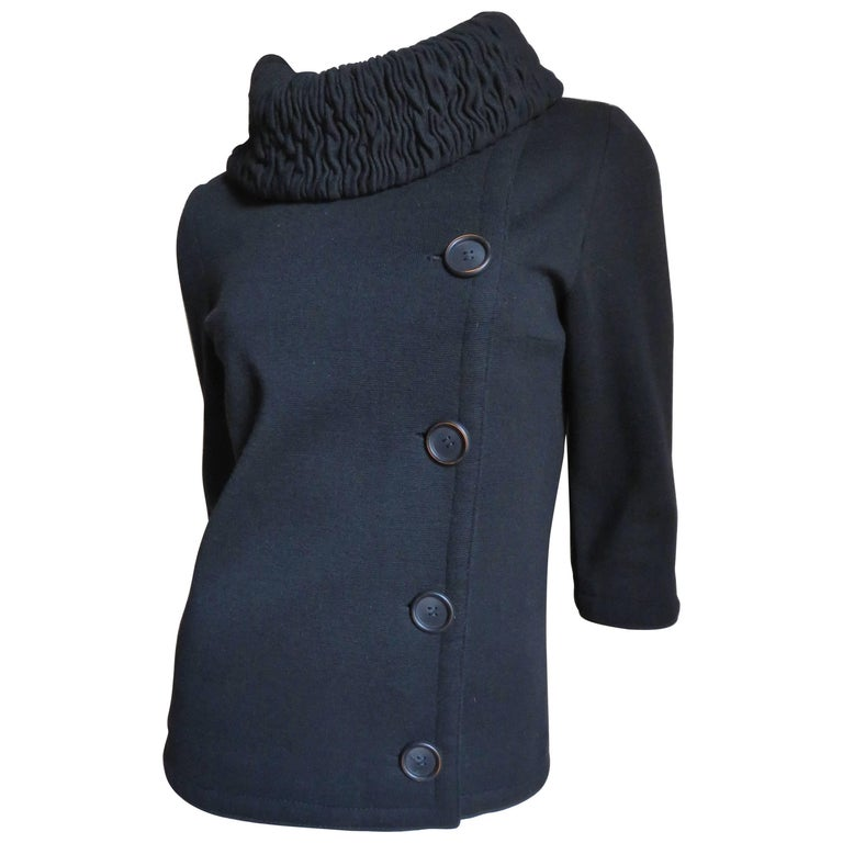 1960s Gino Paoli Ruched Collar Jacket