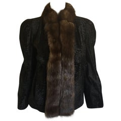 Carolina Herrera Lamb and Mink Jacket