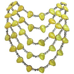 KJL Canary Yellow Brilliant Tiered Necklace