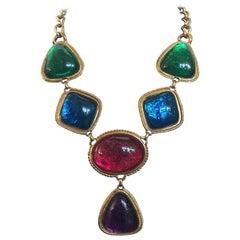KJL Colorful Gemstone Necklace