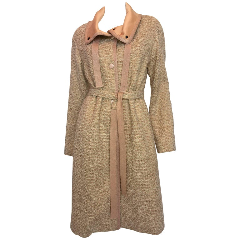 Missoni Wool Dusty Rose & Ivory Woven Jacket With Metallic Thread For Sale