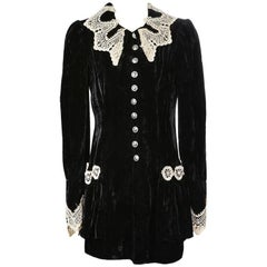 Anna Sui Velvet and Lace Jacket circa 1990s