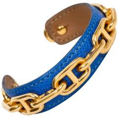 Hermes Turquoise & Gold Chain Bracelet
