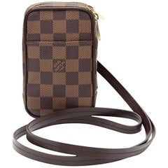 Louis Vuitton Okapi PM Ebene Damier Canvas Digital Camera Case + Strap