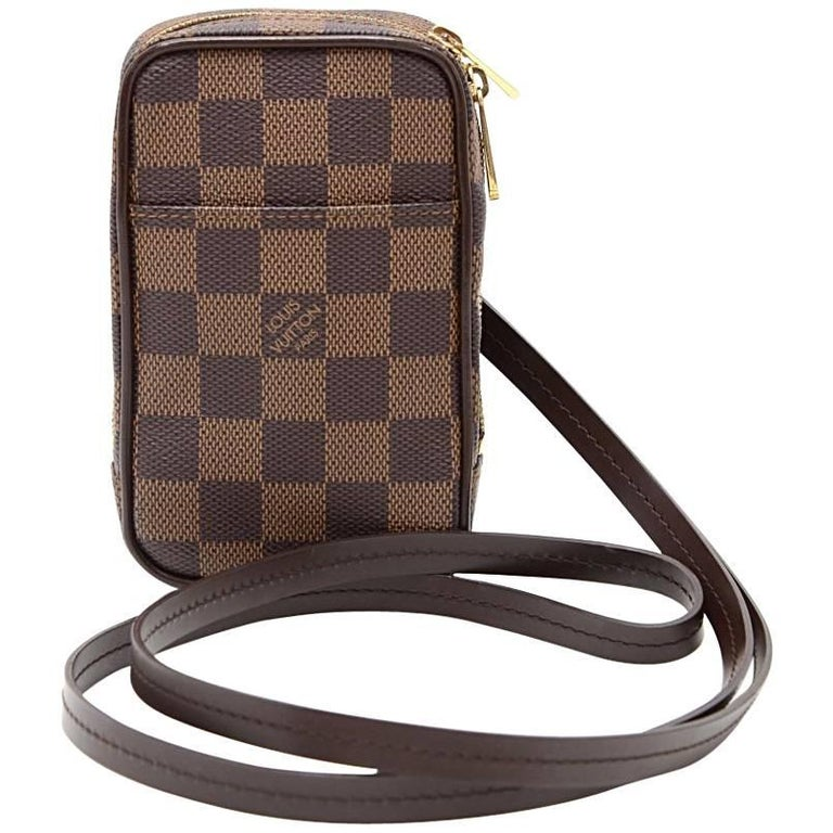 Louis Vuitton Okapi PM Ebene Damier Canvas Digital Camera Case + Strap