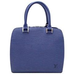 Louis Vuitton Pont Neuf Blue Myrtille Epi Leather Handbag