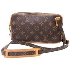 Louis Vuitton Pochette Marly Bandouliere Monogram Canvas Shoulder Bag