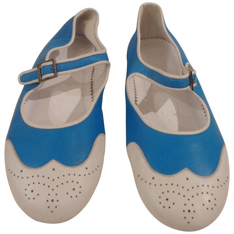 Chanel white and blu ballerina 1