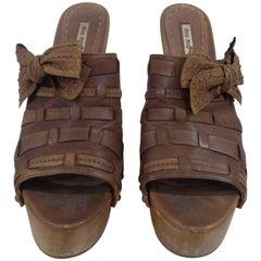 Miu Miu brown high heels sandals
