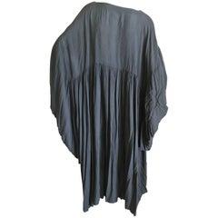 Rei Kawakubo Comme des Garcons Voluminous Early Black Kimono Sleeve Dress