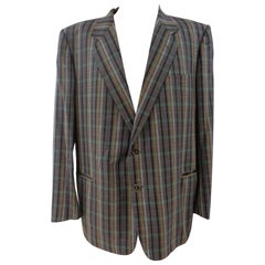 Yves Saint Laurent multicolour cotton men jacket