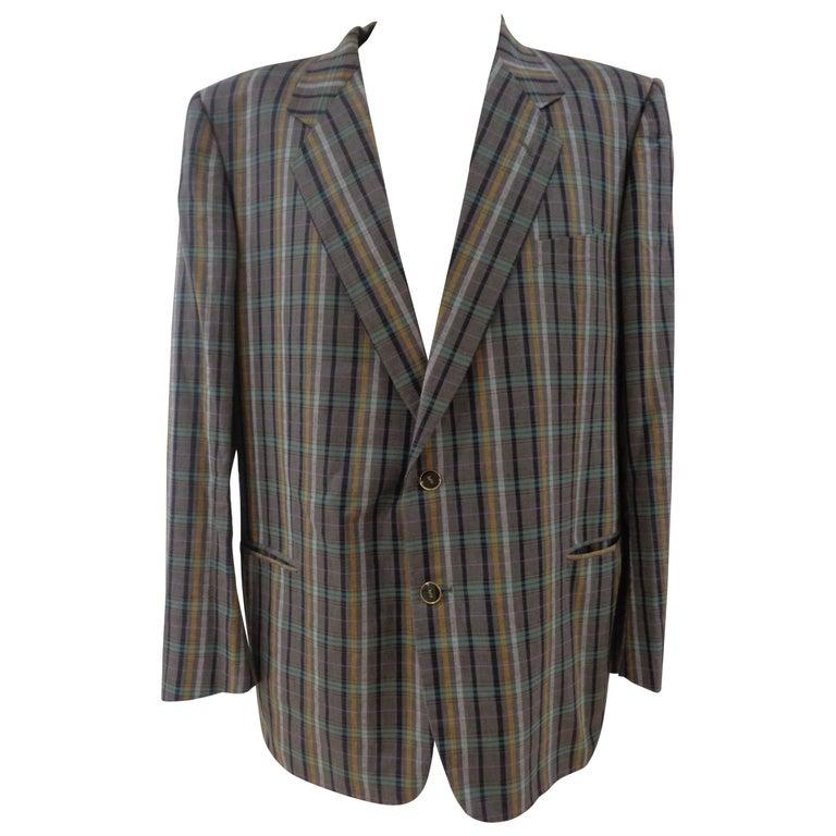 Yves Saint Laurent multicolour cotton men jacket