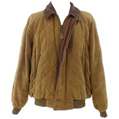 Iceberg brown vintage wool cotton bomber