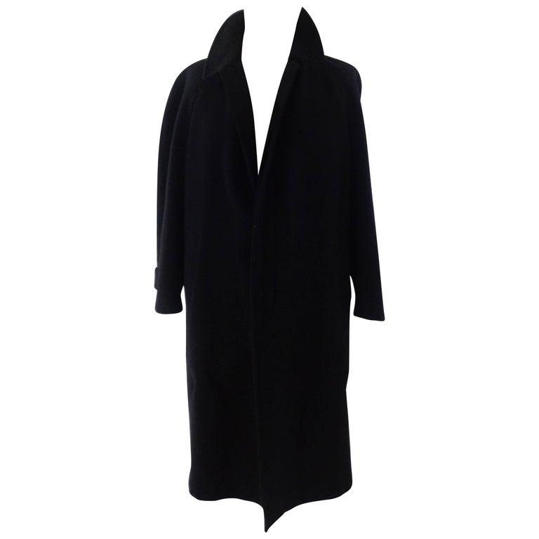 Fendi black wool men coat