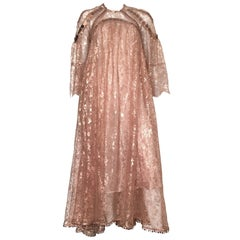 Zimmerman Copper Lace Mirror Sequin Gown Size 4/6.