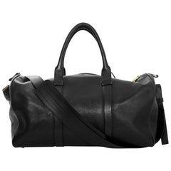 Tom Ford Black Leather Weekender Duffle Bag