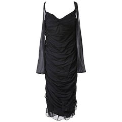 Tom Ford for Gucci Off Shoulder Silk Dress with Back Lacing, 1990s