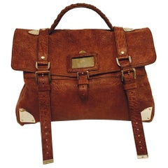 Memorable Mulberry Textured Leather Messenger Bag